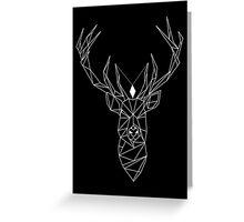 Deer Black Greeting Card