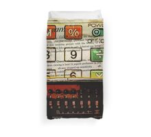 funky geek nerd shortwave radio retro calculator  Duvet Cover