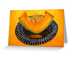 Cantoloupe oil painting Greeting Card