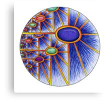 Cosmic Sunflower Canvas Print