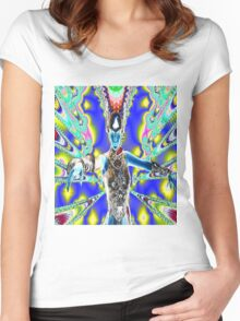 Warrior in Colour Women's Fitted Scoop T-Shirt