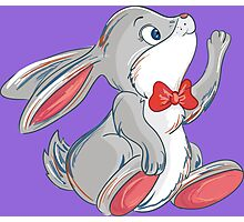 Cute rabbit with bow Photographic Print