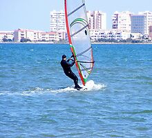 Windsurfer on Mar Menor (Little Sea) by LadyE