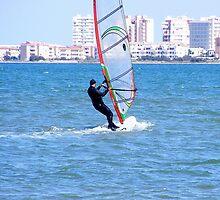 Windsurfer on Mar Menor (Little Sea) by LadyE