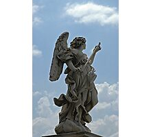 Angel statue on Ponte Sant'Angelo, Rome Photographic Print