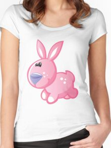 Jolly little bunny  Women's Fitted Scoop T-Shirt