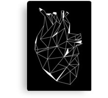 Stone Heart Black Canvas Print