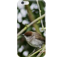 Female Black Cap listening intently iPhone Case/Skin