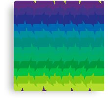 Spectral Frequencies - The Cooler Colors Canvas Print