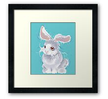 Fuzzy magic white rabbit Framed Print