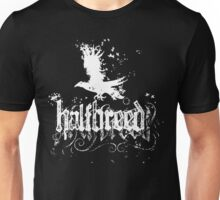 Blackbird Halfbreed - White Ink - an Aaron Paquette Unisex T-Shirt