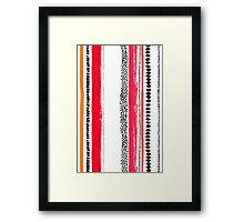 Ink stripes Framed Print