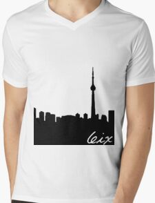Toronto Skyline Mens V-Neck T-Shirt