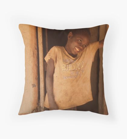 Dumisani, Malawi Throw Pillow