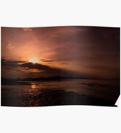 Summer Sunset Glow Poster