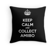 KEEP CALM and COLLECT AMIIBO Throw Pillow