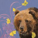 Bear with Butterflies by Kaetlyn Wilcox