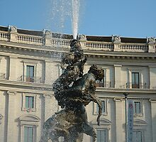 Fountain in Piazza Repubblica, Rome, Italy by buttonpresser