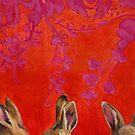 Rabbit Overhearing Rabbits by Kaetlyn Wilcox