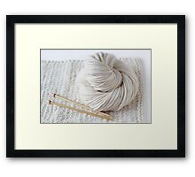 Soft Knitting Yarn Framed Print