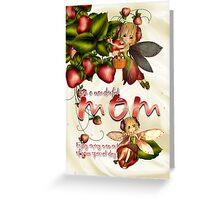Birthday Card - Mom - Moonies Cutie Pie Fairies  Greeting Card