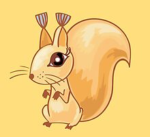 Cute cartoon squirrel by Olga Chetverikova