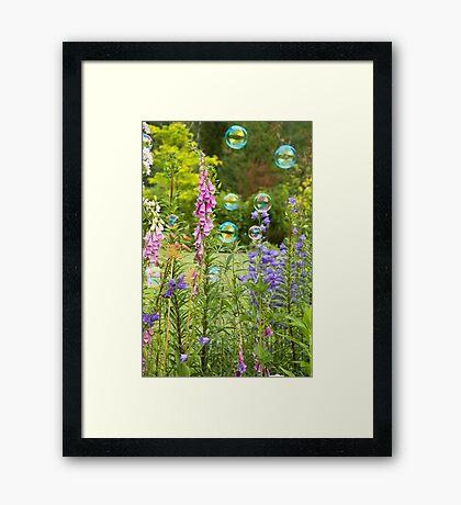 Bubble Garden Framed Print