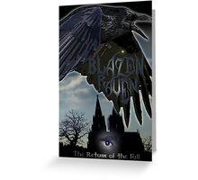 blazen raven Greeting Card