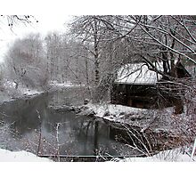 A wintery stream Photographic Print