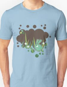 Green bunny with flowers Unisex T-Shirt
