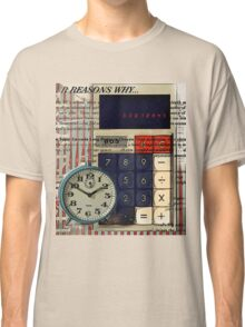 cool geeky nerdy alarm clock retro calculator  Classic T-Shirt