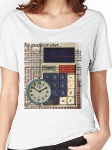 cool geeky nerdy alarm clock retro calculator  Women's Relaxed Fit T-Shirt