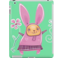 Pink girl bunny in skirt iPad Case/Skin