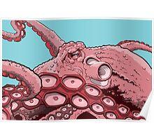 Pink Octopus Design Poster