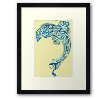 Blue dolphin - unique sea artwork   Framed Print
