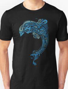 Blue dolphin - unique sea artwork   T-Shirt