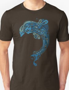 Blue dolphin - unique sea artwork   Unisex T-Shirt