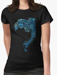 Blue dolphin - unique sea artwork   T-Shirt
