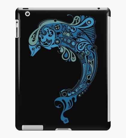 Blue dolphin - unique sea artwork   iPad Case/Skin