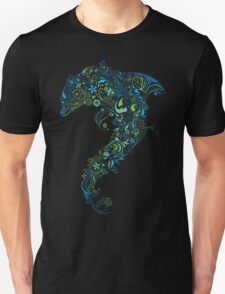 Dolphin - floral with flowers pattern Unisex T-Shirt
