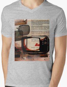 cool geeky tech Retro Vintage TV television Nostalgia Mens V-Neck T-Shirt