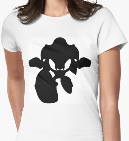 Sonic The Hedgehog Silouhette  Womens Fitted T-Shirt