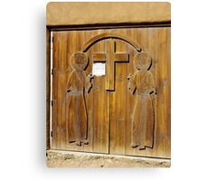 Hand Carved Church Doors Canvas Print