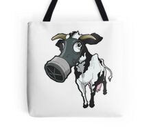 Nuclear Cow Black and White Tote Bag