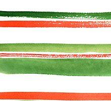 Watercolor stripes by Alena Tselesh