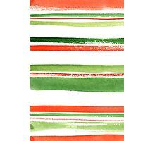 Watercolor stripes Photographic Print