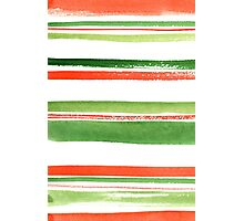 Watercolor stripes Photographic Print