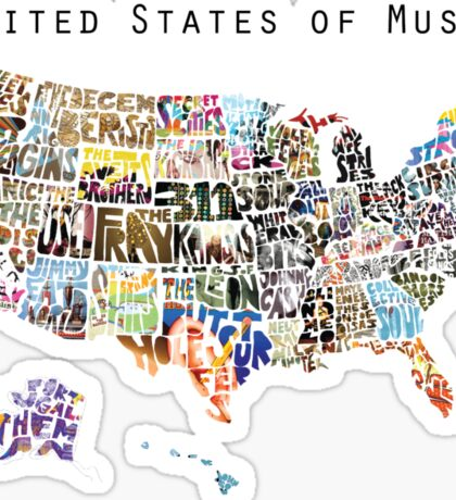 United States of Music Sticker