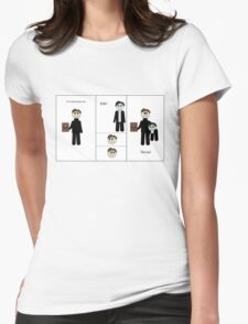 Chibi Charles and Possessive Erik by AaliaKnife Womens Fitted T-Shirt