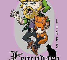 Link's Legendary Beard and Cat Club by GrimaceGraphics